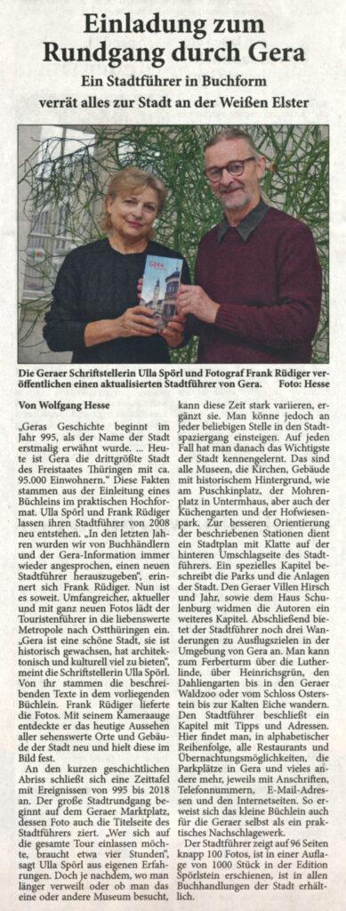Bericht Neues Gera Stadtführer Gera