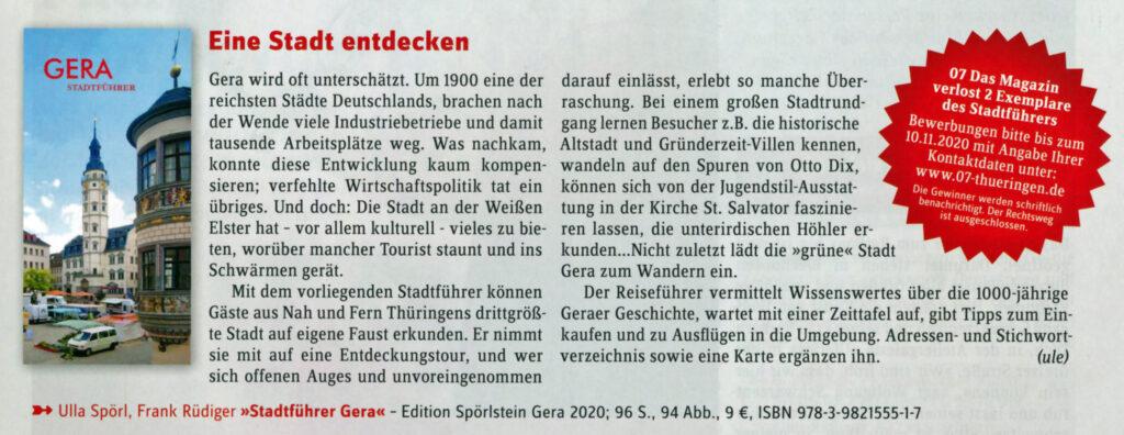 Ausschnitt Stadtmagazin07 Gera Stadtführer